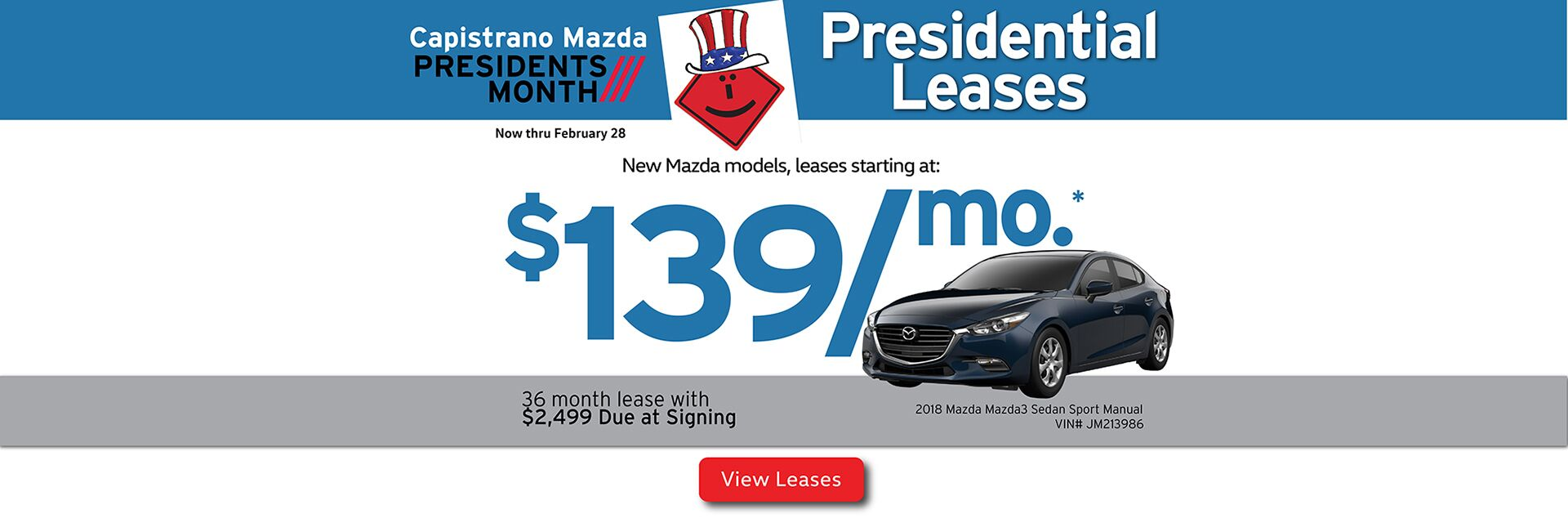 Capistrano Mazda Presidential Lease Offers - Out with the old and in with the new!