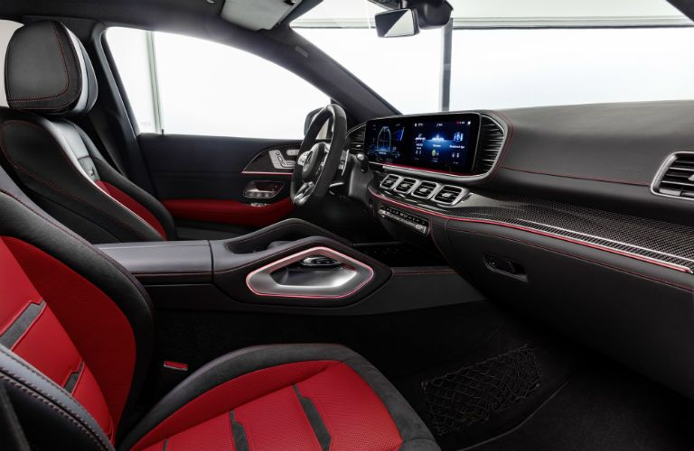 2021 Mercedes-AMG® GLE 53 Coupe dashboard and front seats