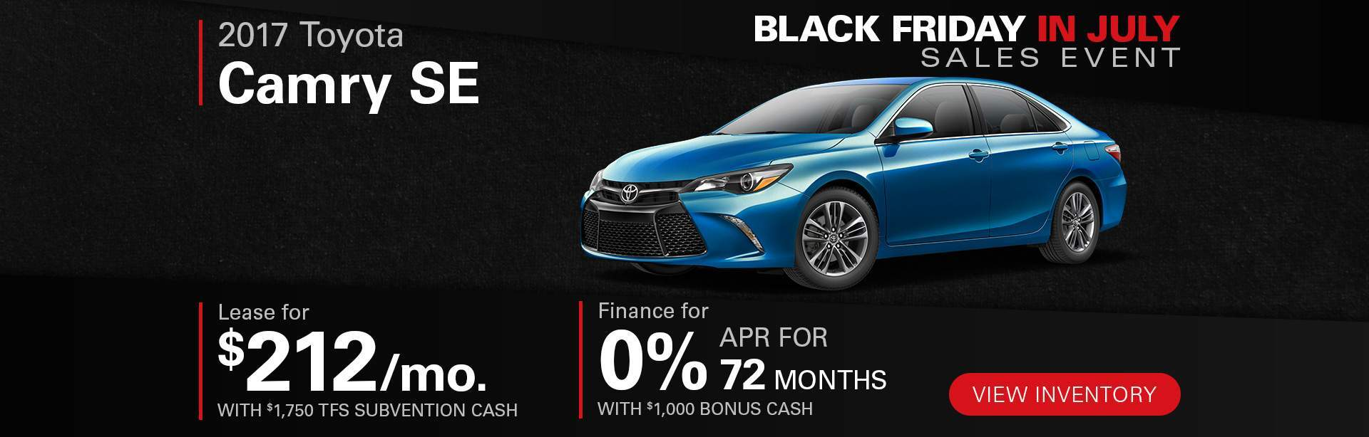 Black Friday In July Camry SE