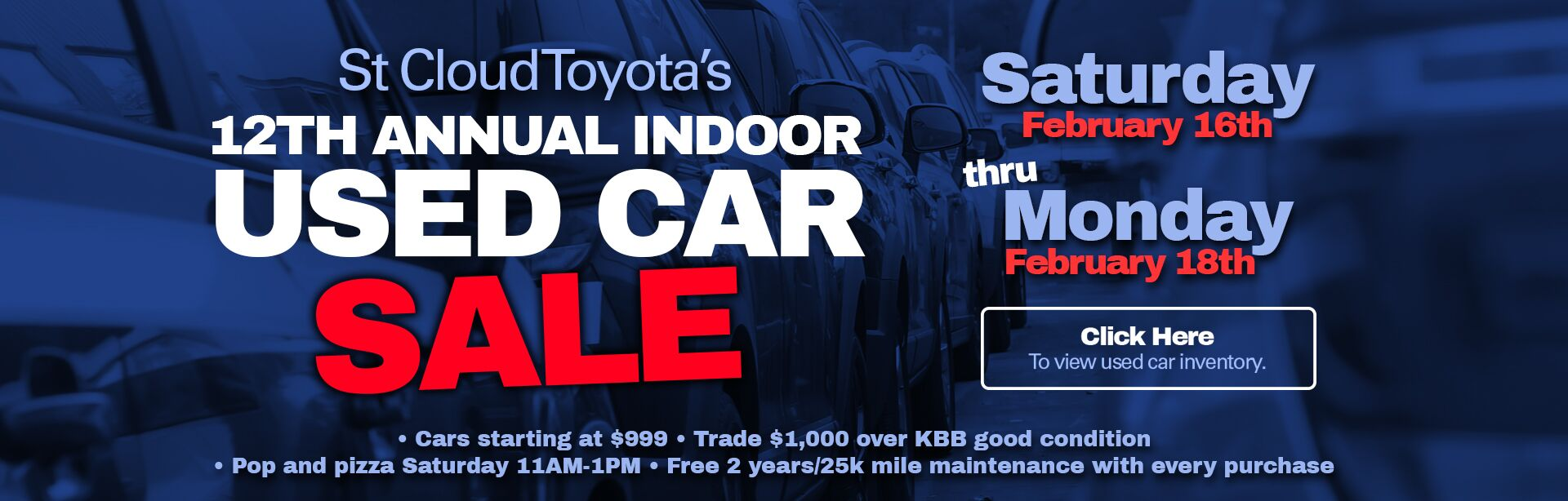 Indoor used Car Sale