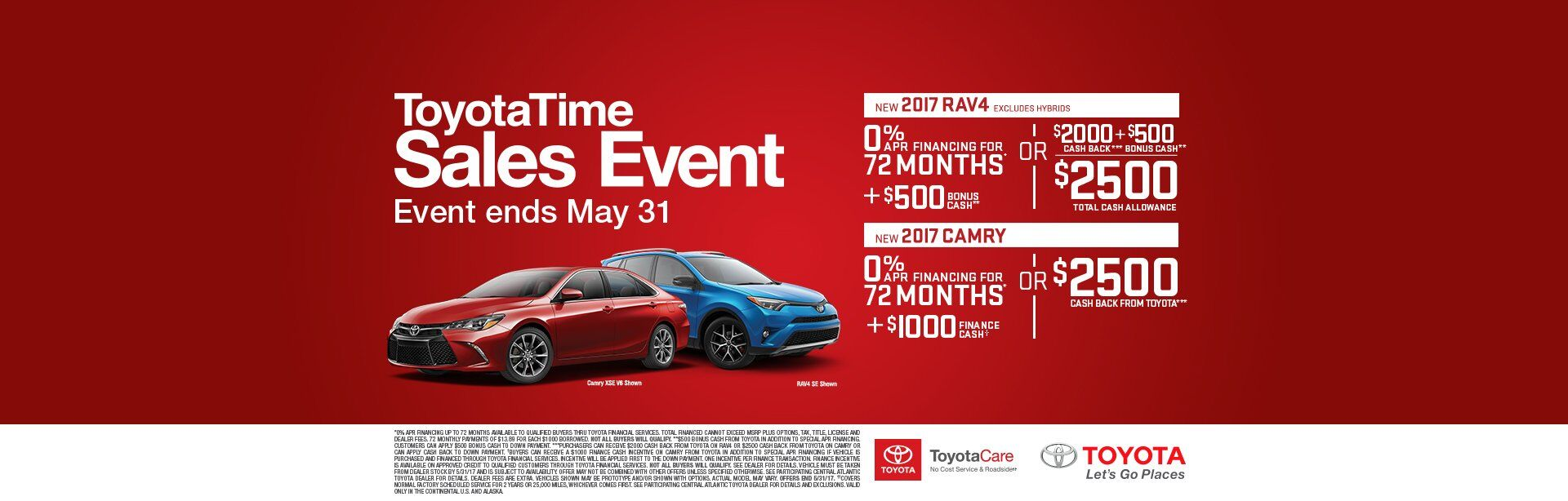 ToyotaTime Sales Event Rav4 Camry