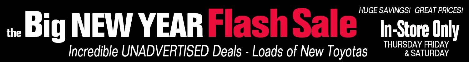 The Big New Year Flash Sale