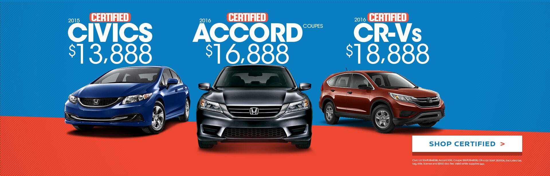 Certified Honda Sale