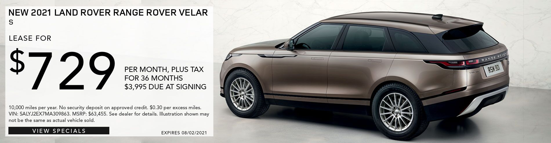 2019 Range Rover Velar for sale only at Land Rover Pasadena