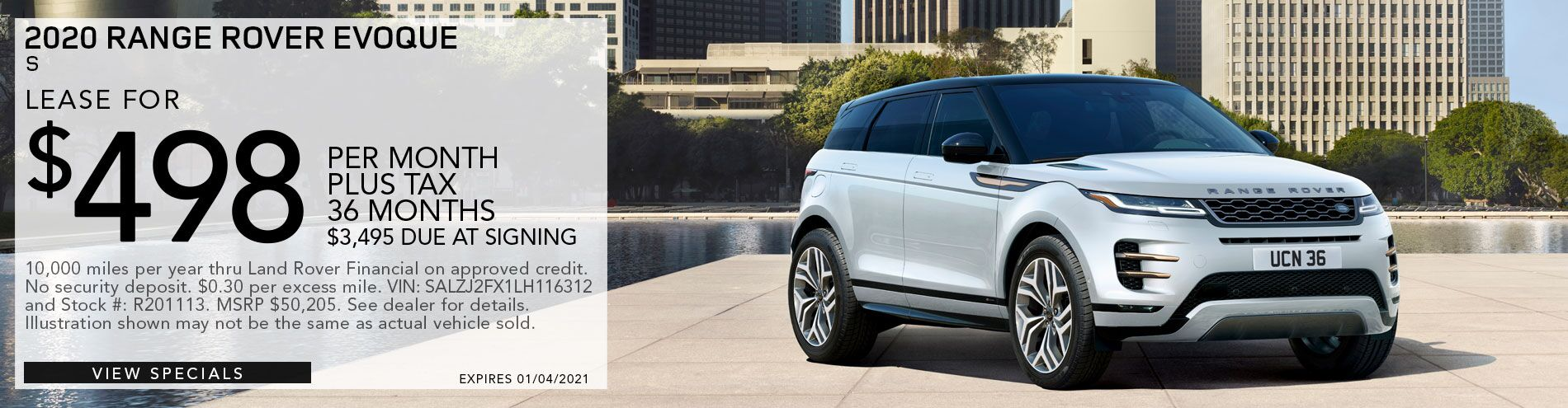 2020 Range Rover Evoque for sale only at Land Rover of Pasadena