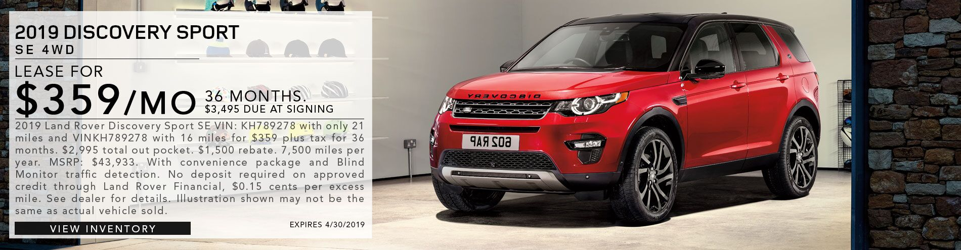 2019 Discovery Sport SE 4WD