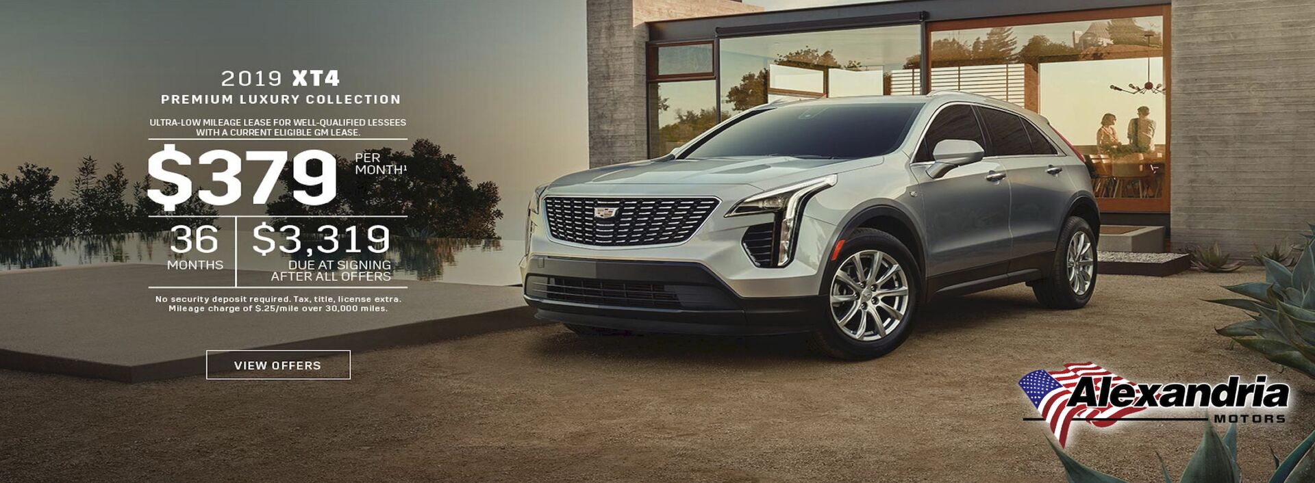 Cadillac XT4 September Lease