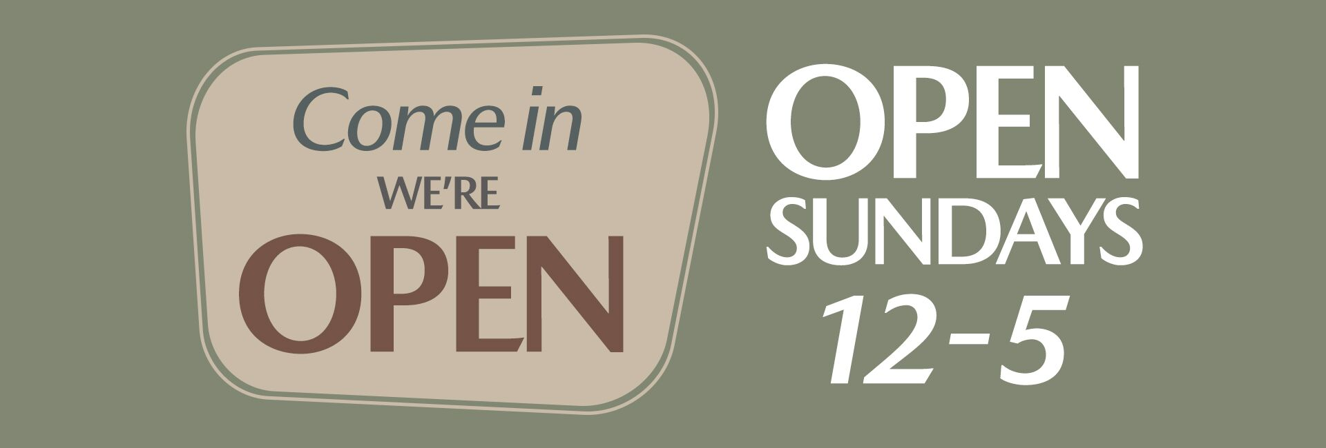 Open Sundays