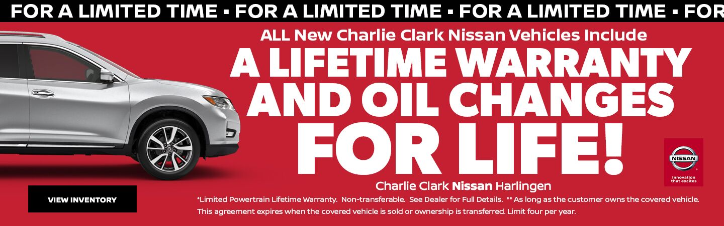 A Lifetime Warranty and Free Oil Changes For Life!