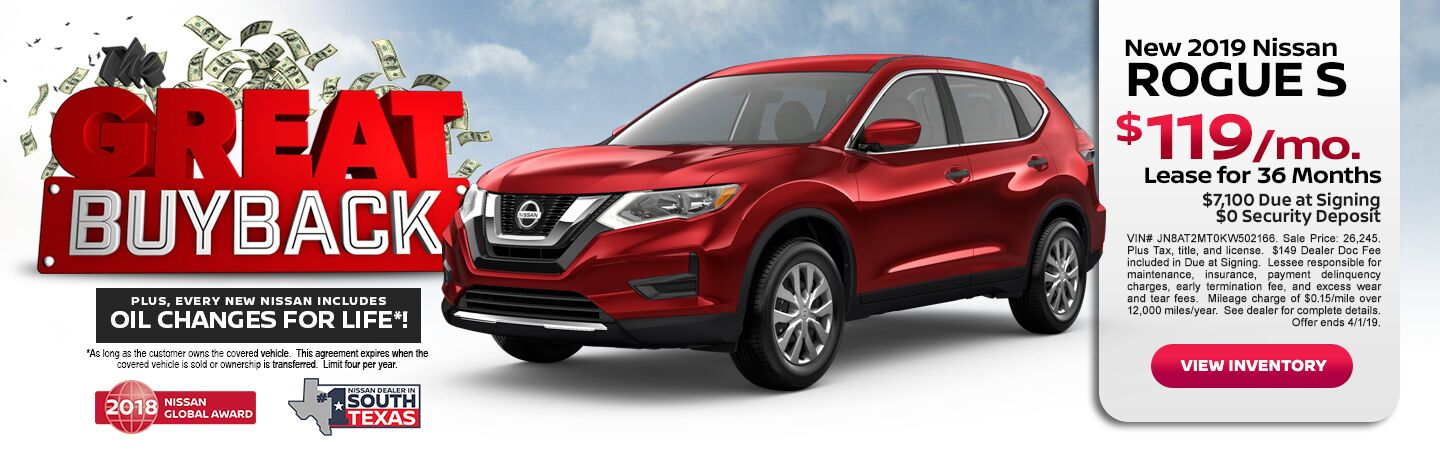 BUY BACK NISSAN ROGUE