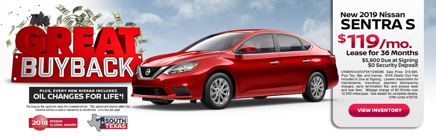 BUY BACK NISSAN SENTRA 19