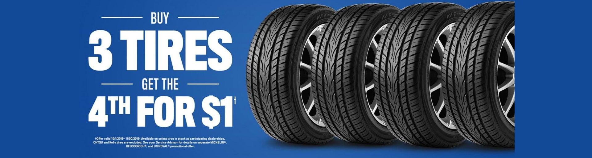 Buy 3 Tires, Get The 4th For Free
