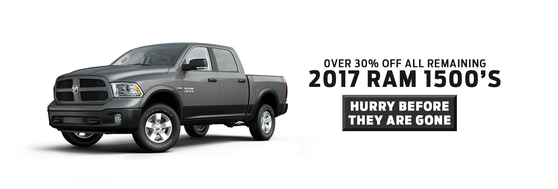 Incredible deals on all remaining 2017 Ram Trucks