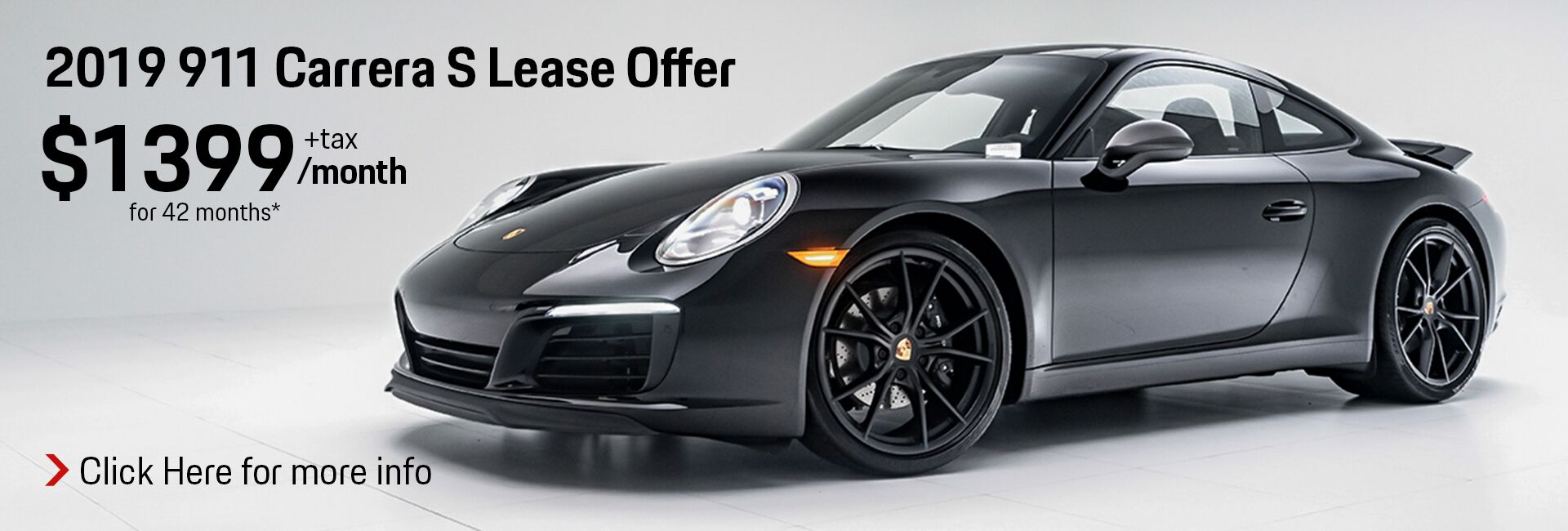 2019 911 Carrera S Lease Offer