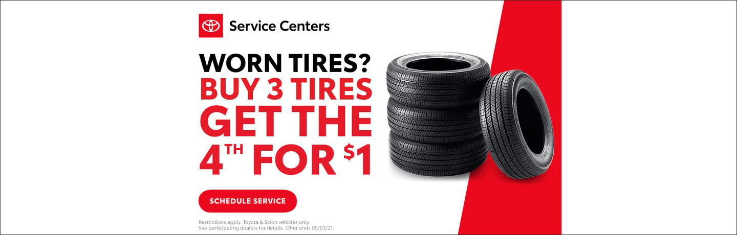 Worn Tires? Buy 3
