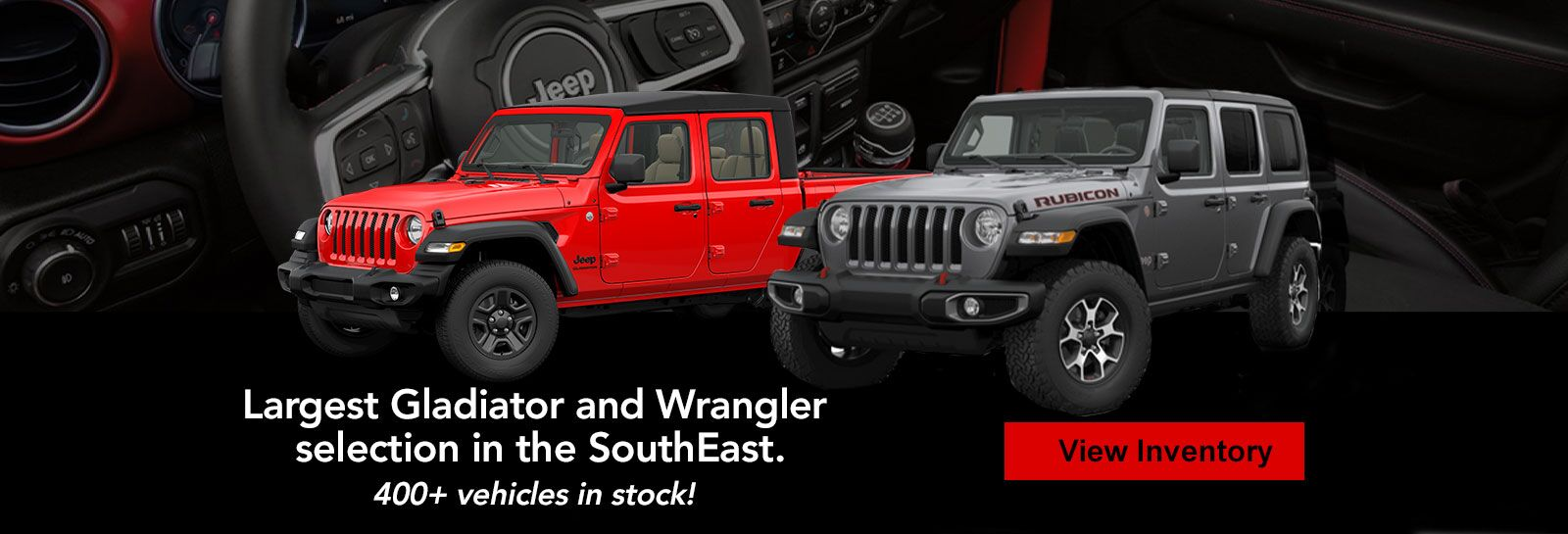 Largest Gladiator and Wrangler Selection in the SouthEast