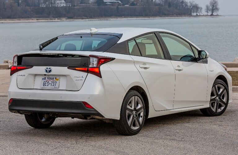2019 Toyota Prius parked facing Water