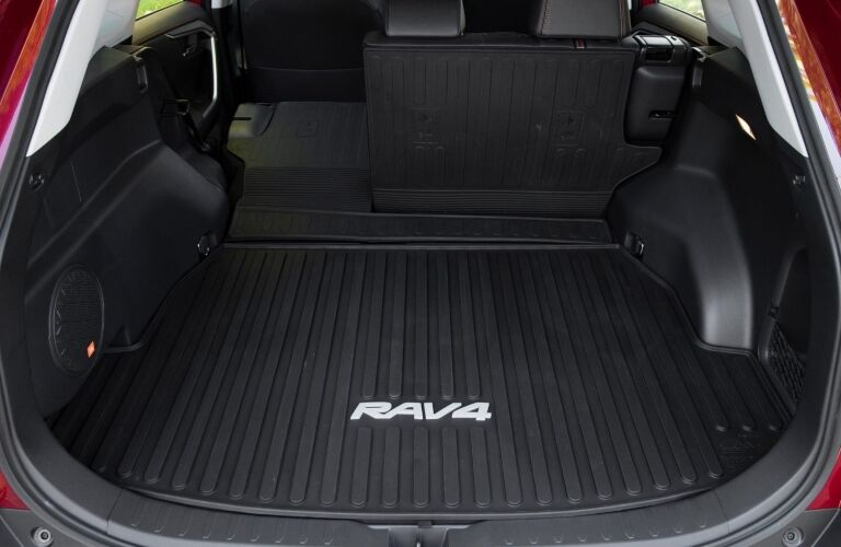 2019 Toyota RAV4 with back hatch open