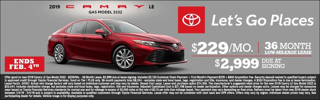 CIN - Camry Lease Jan 2019