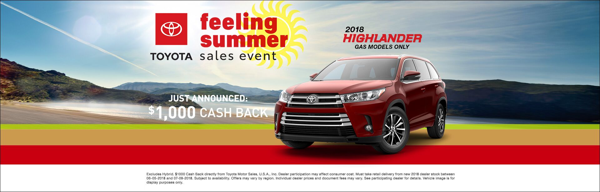 Feeling Summer Highlander Cash Back
