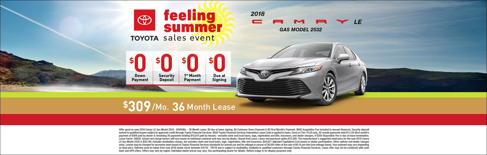 Feeling Summer Camry Lease