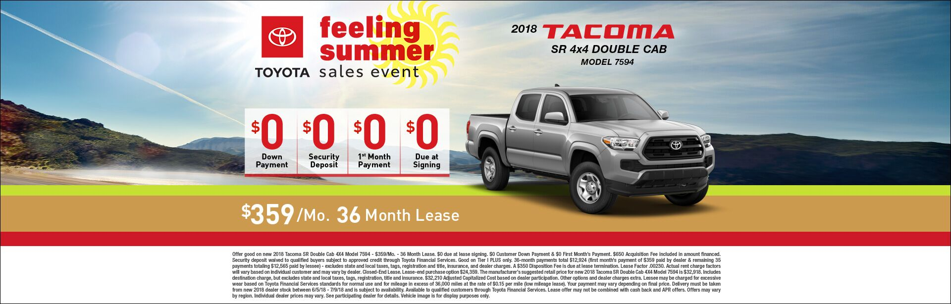 Feeling Summer Tacoma Lease