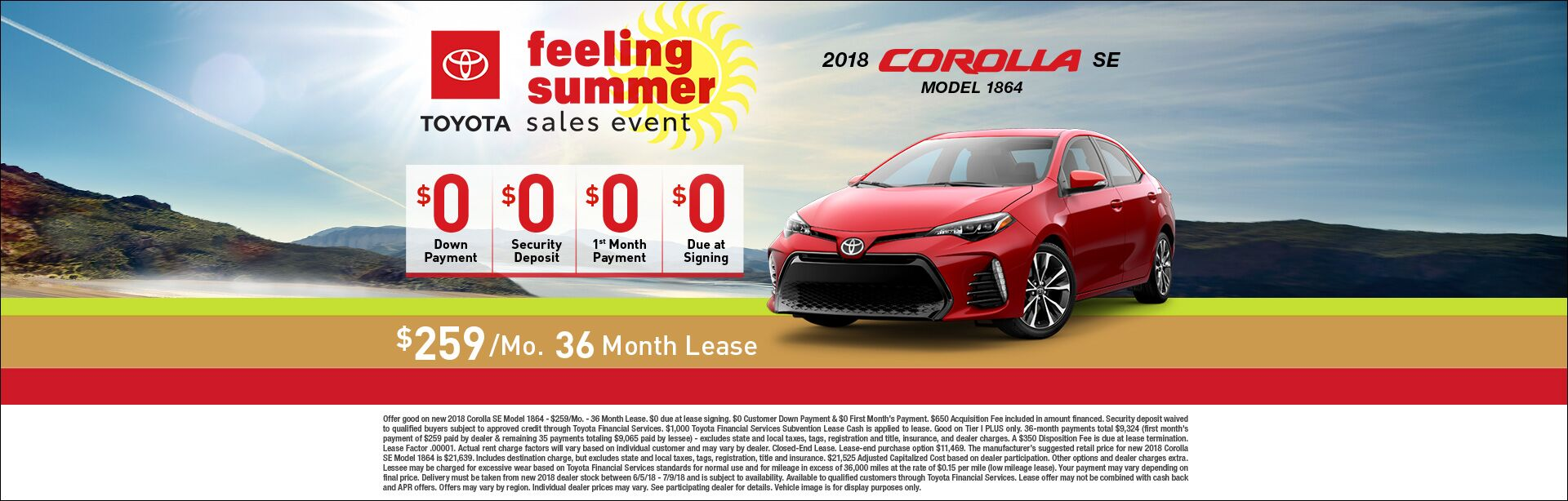 Feeling Summer Corolla Lease