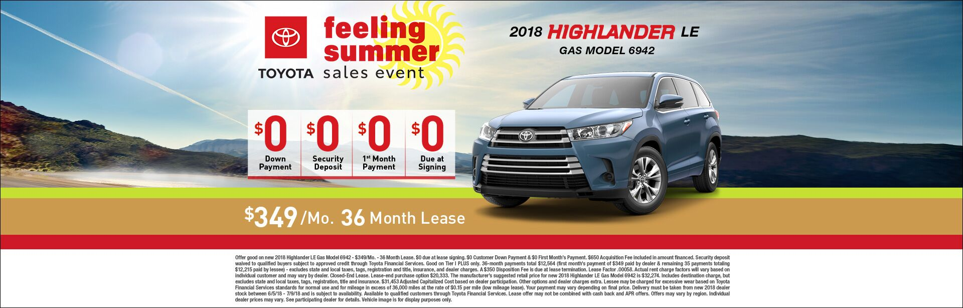 Feeling Summer Highlander Lease