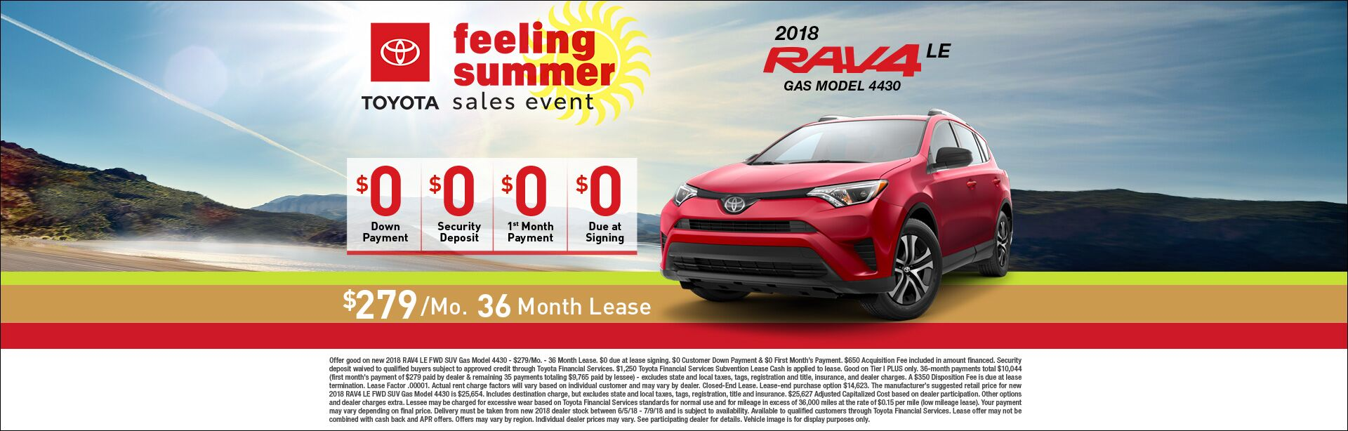 Feeling Summer Rav4 Lease