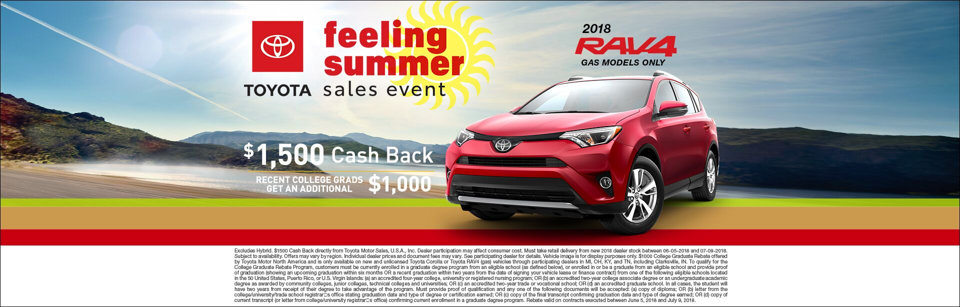 Feeling Summer Rav4 Cash Back