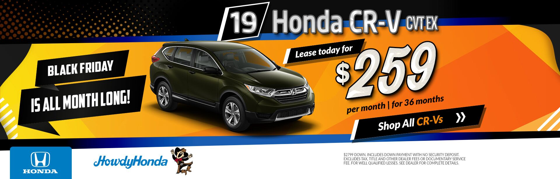 2019 Honda CRV Black Friday Deals