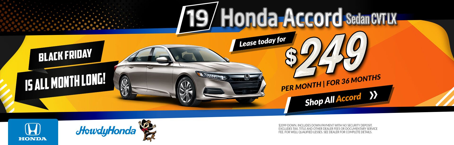 2019 Honda Accord Black Friday