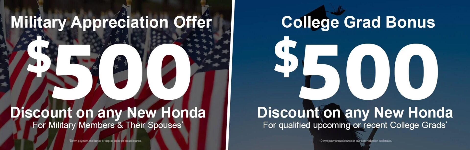 Military Discount College Grad Discount