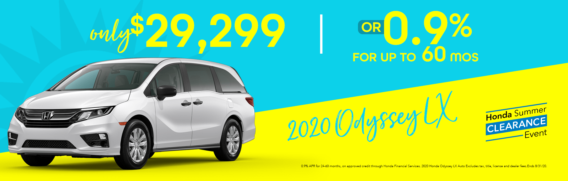 Honda Summer Clearance Event - Odyssey