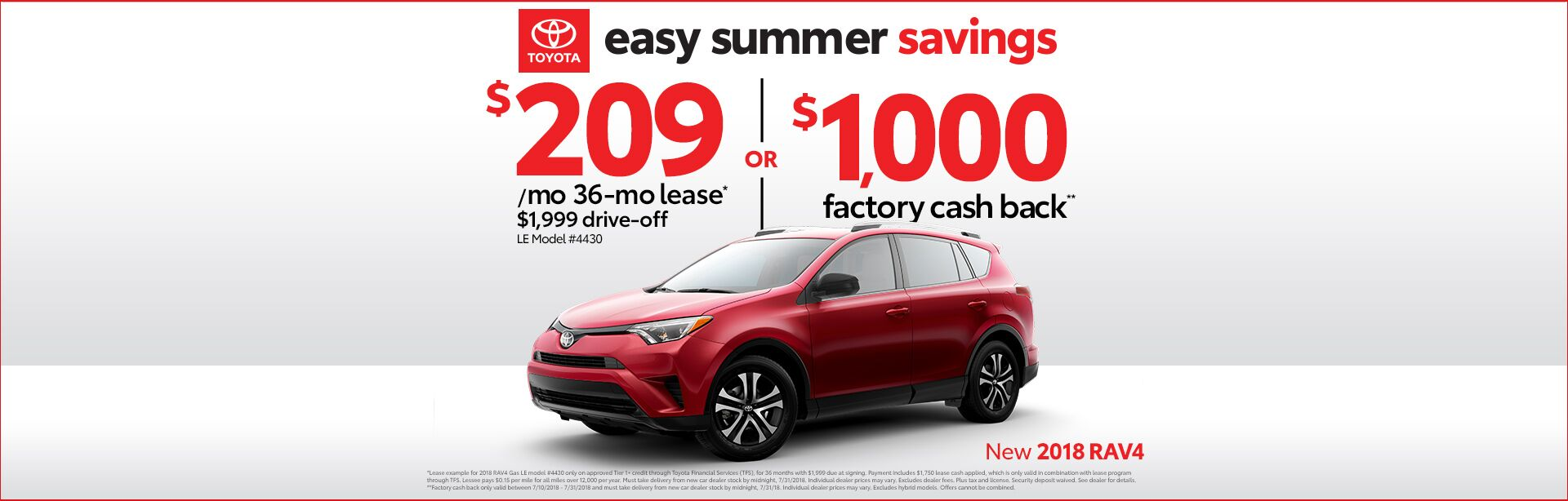 Easy Summer Savings Rav4