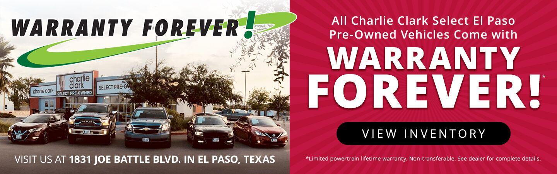 El Paso Car Dealerships >> Used Car Dealership El Paso Tx Charlie Clark Select El Paso