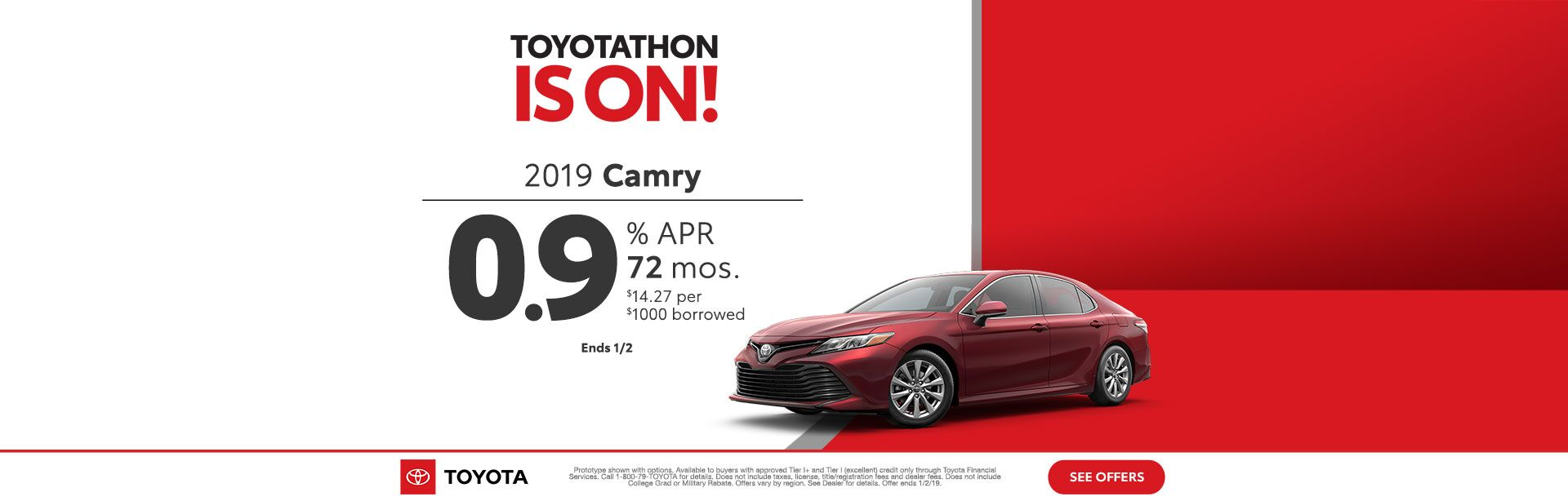 Toyotathon is on Camry Dec 2018