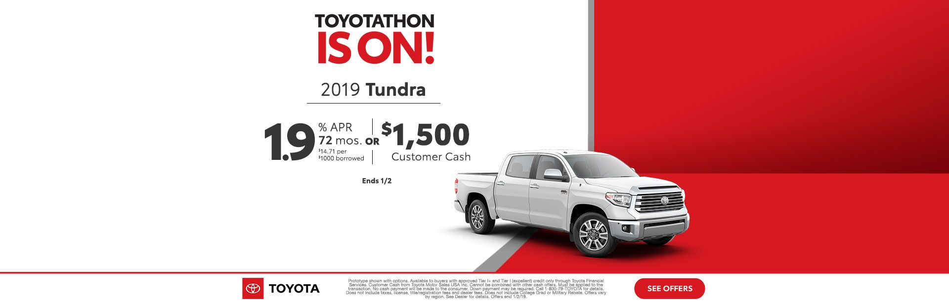 Toyotathon is on Tundra Dec 2018