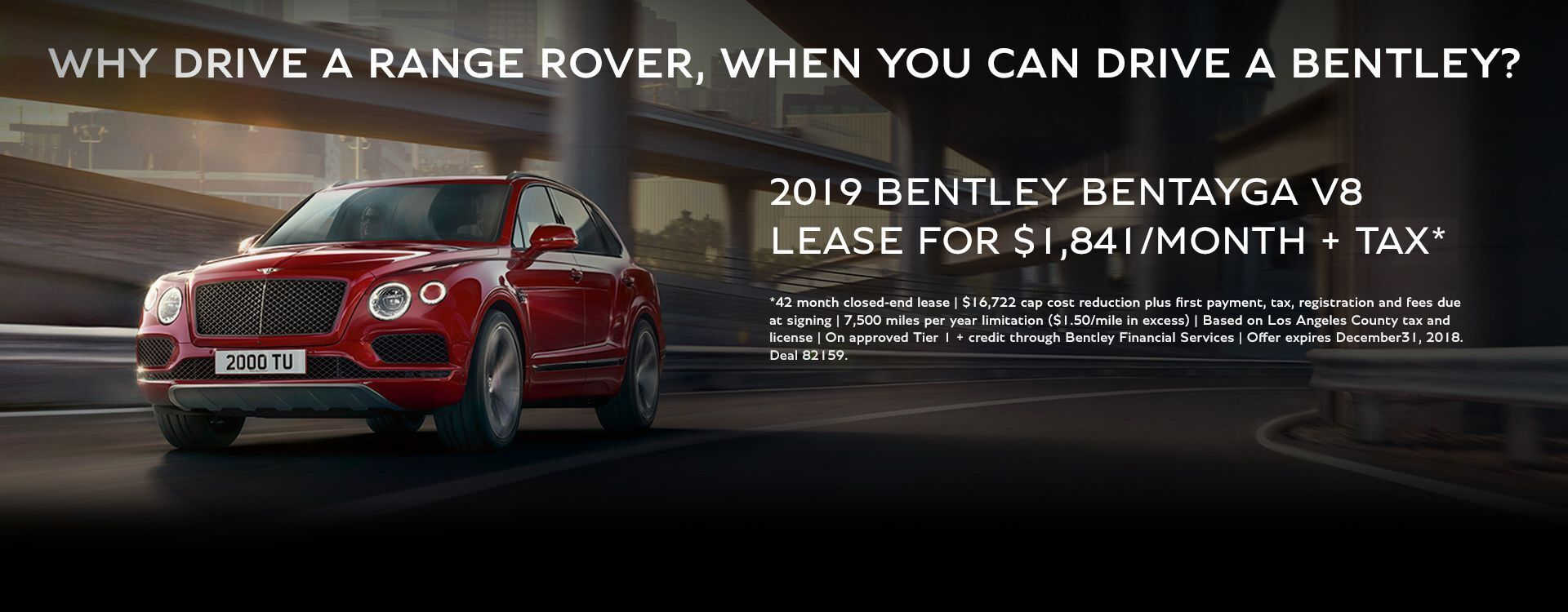 Bentley Bentayga V8- November
