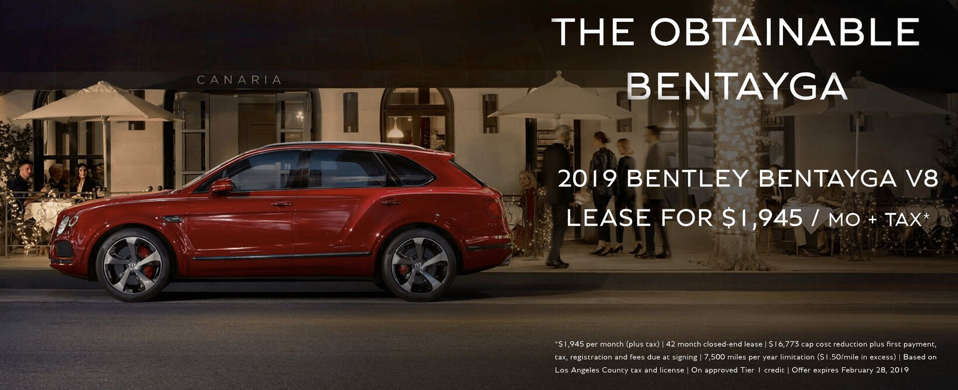 Bentley Bentayga V8- February