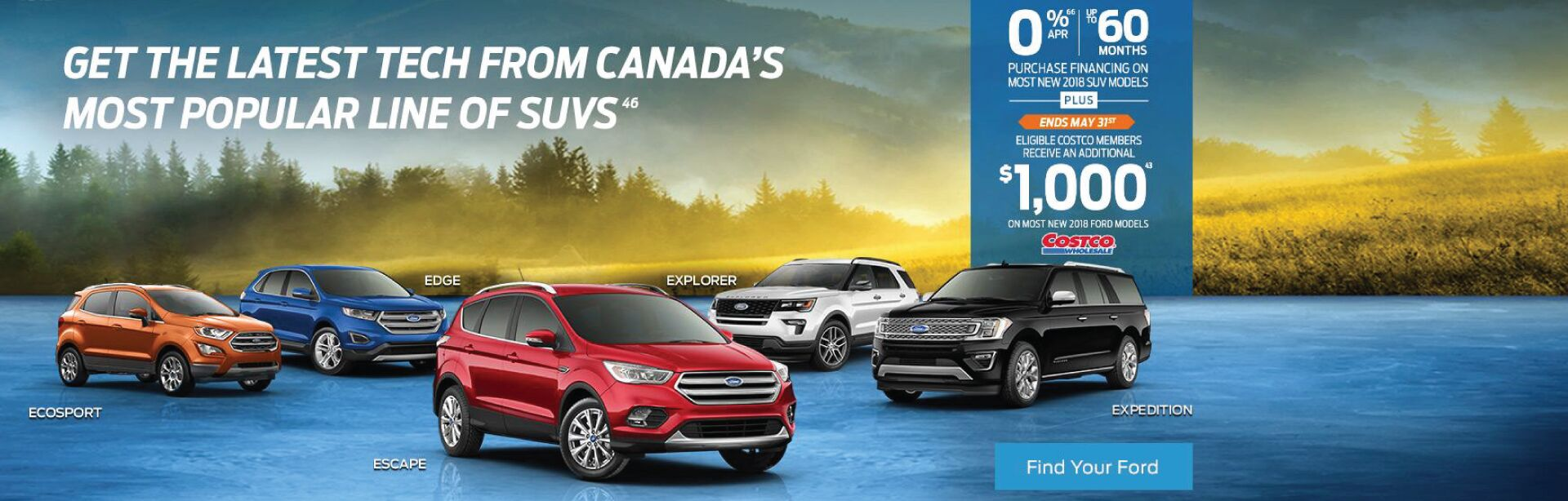 Ford SUV May Incentive
