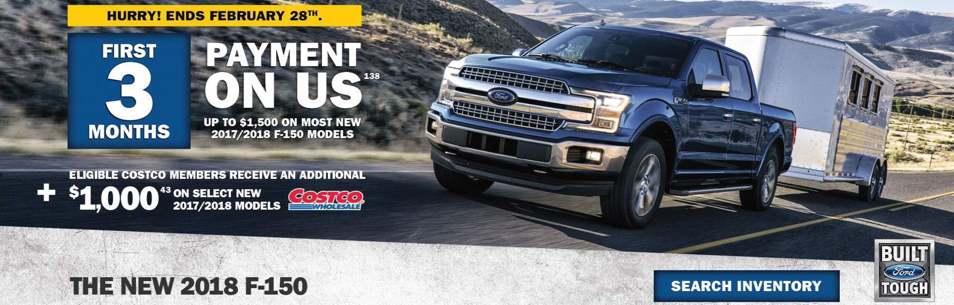First 3 Months Payments on Us | F-150 | AM FORD