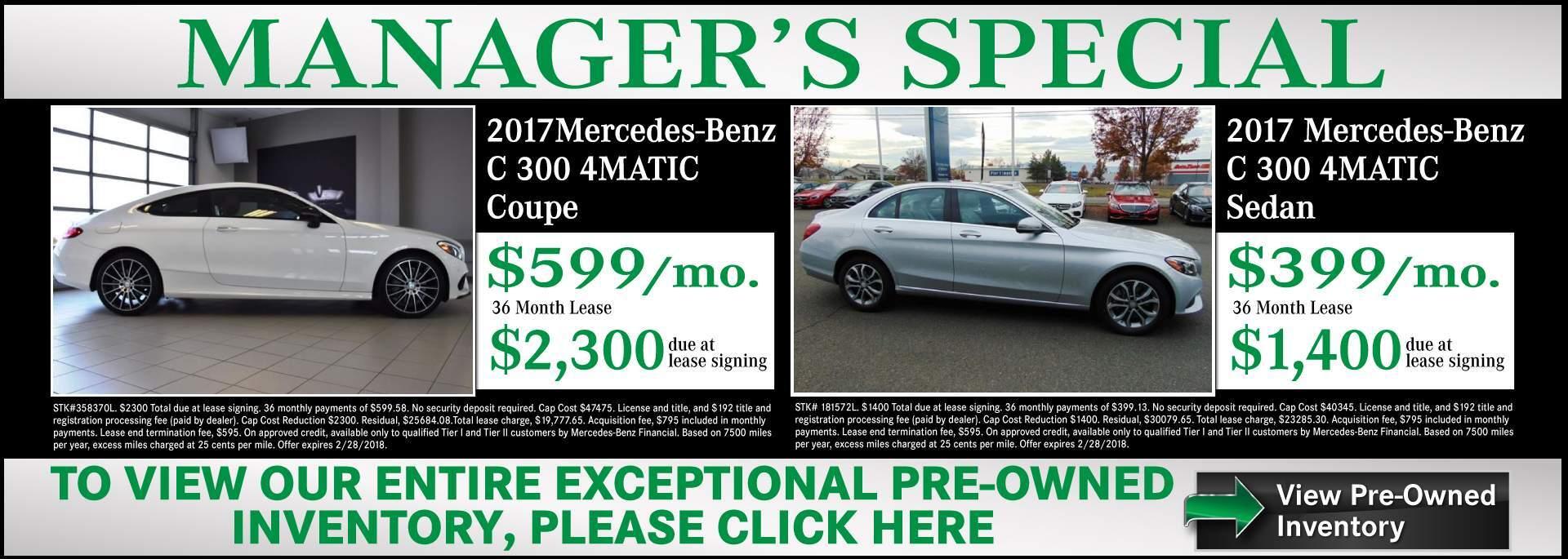 Mercedes-Benz Dealership Medford OR | Used Cars Mercedes ...