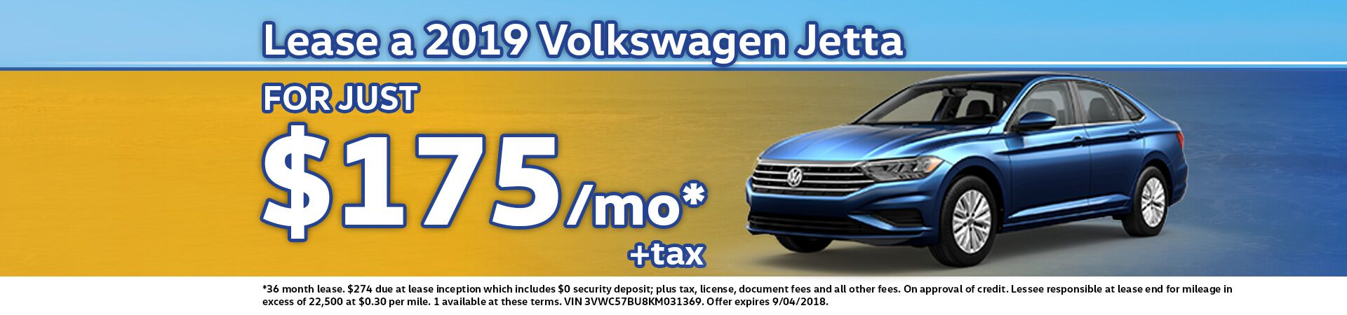 Great Deal on a 2019 Jetta!
