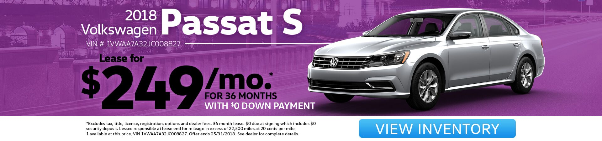 Passat Lease Special for May!