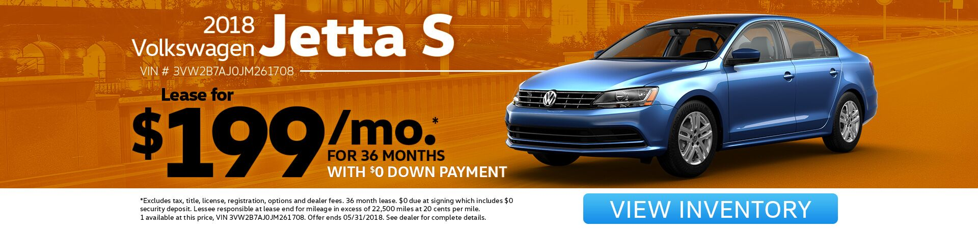 Jetta Lease Special for May!