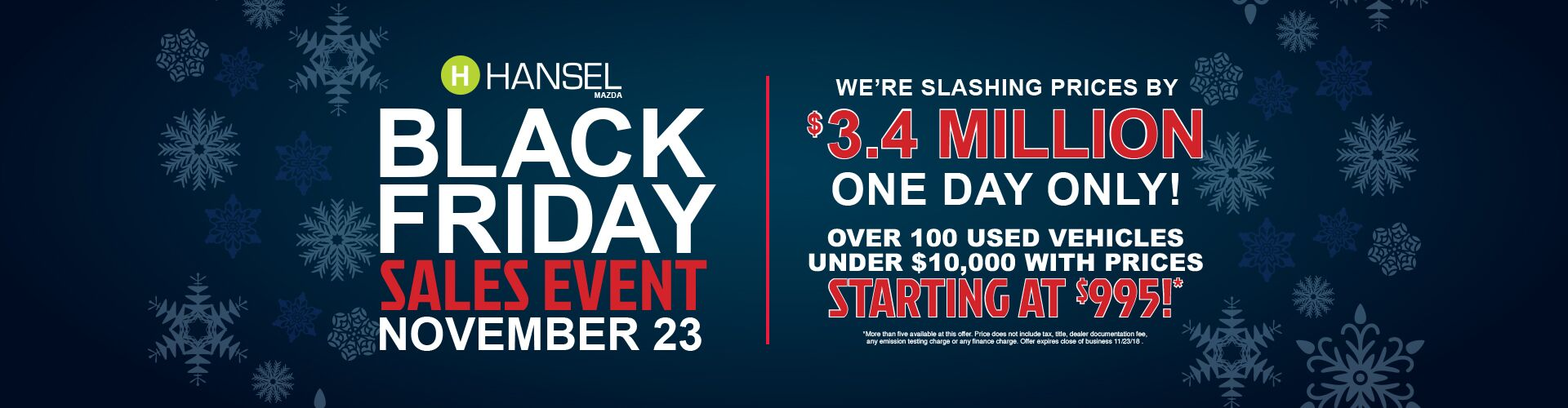 Black Friday at Hansel Mazda!