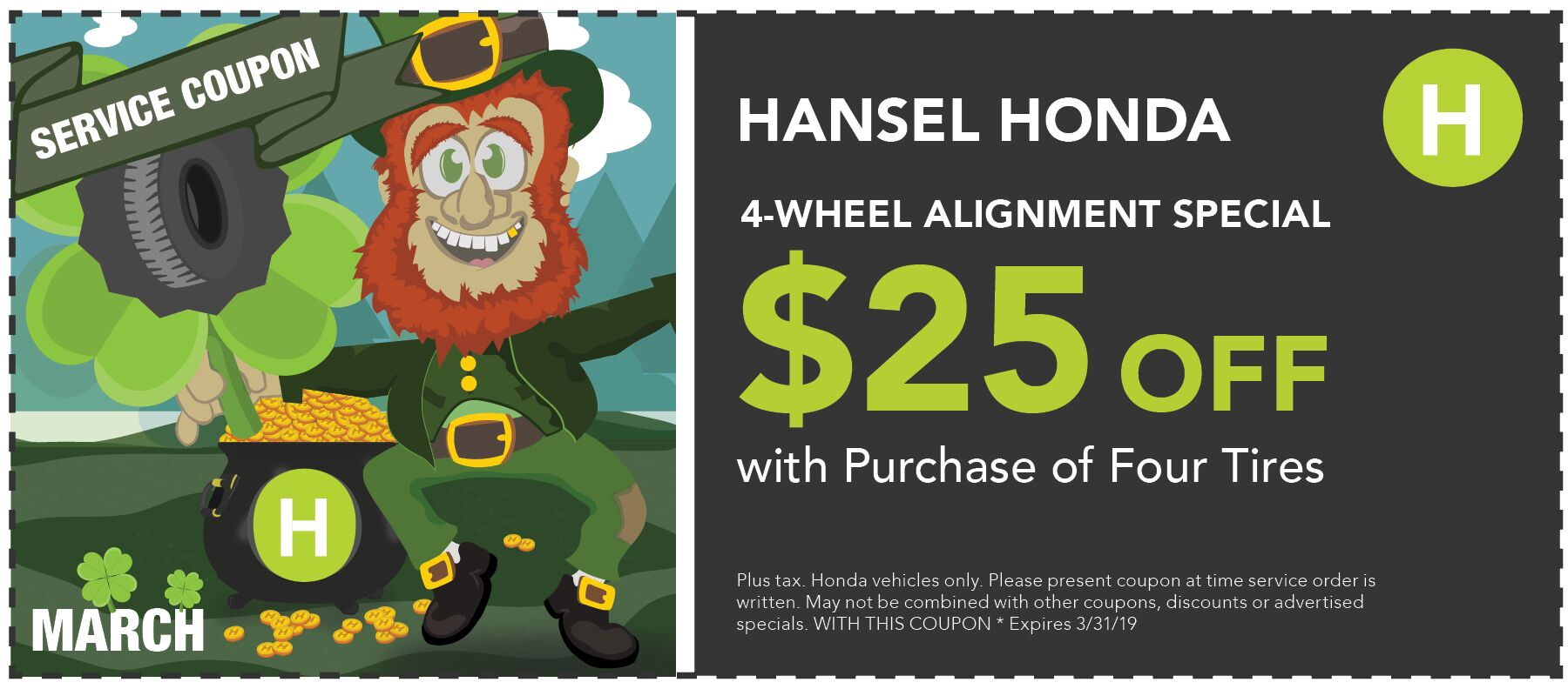 Four Wheel Alignment Special!