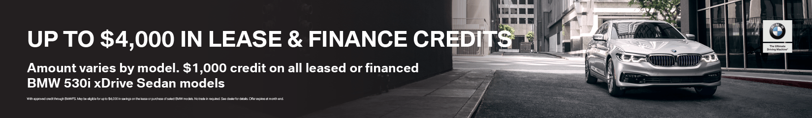 $4,000 Lease & Finance Credits