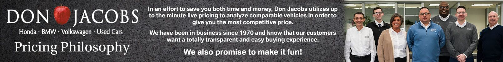 Pre-Owned Pricing Philosophy